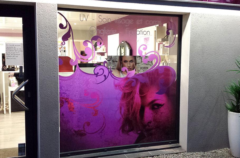 Impression quadri sur adhésif transparent