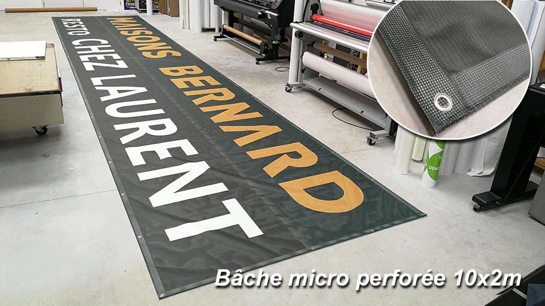 Bâche microperforée 12x1.2m