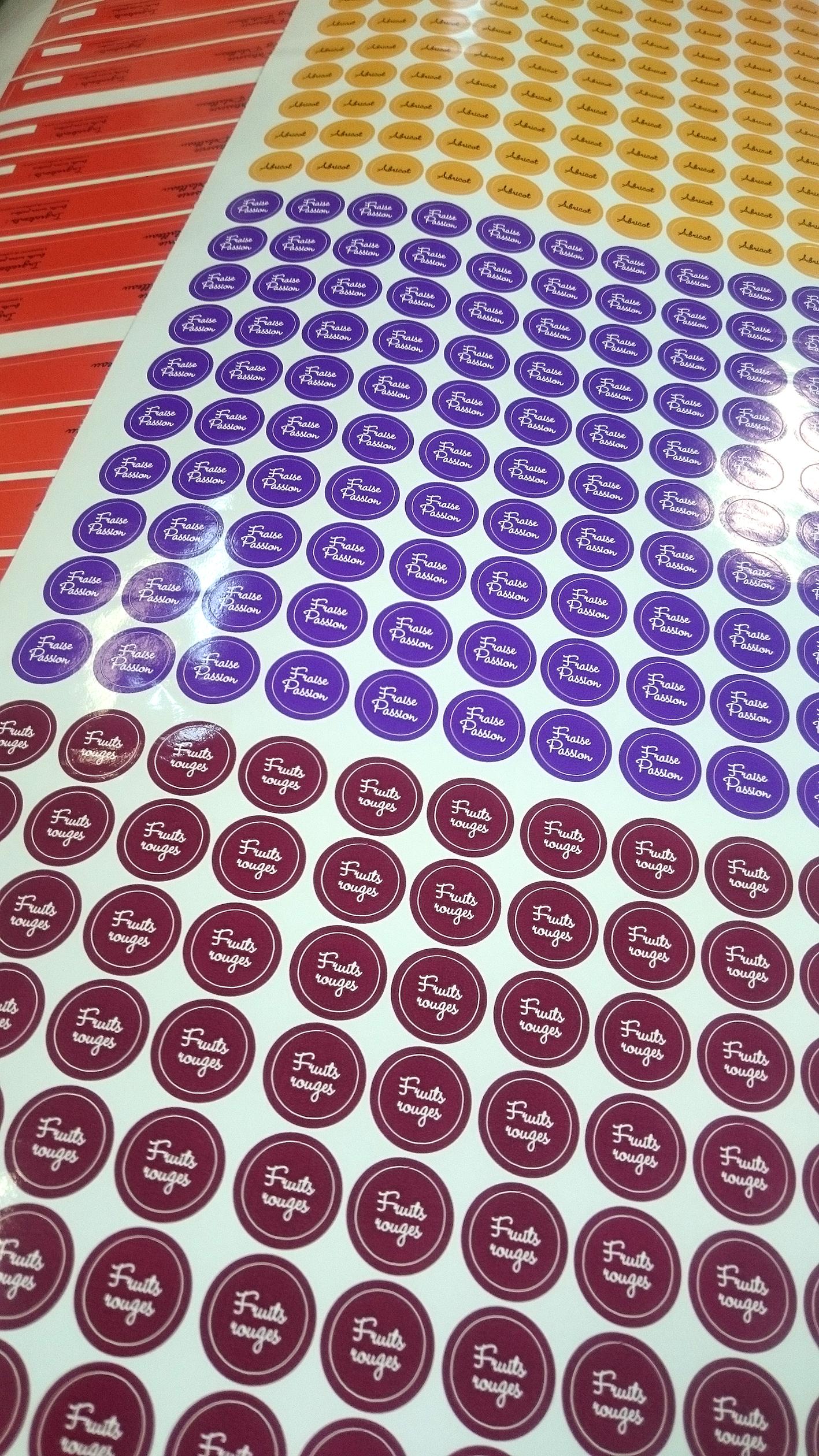 Stickers pour produits alimentaires